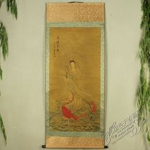 China Antique collection Calligraphy and painting the Goddess of mercy portraits /3