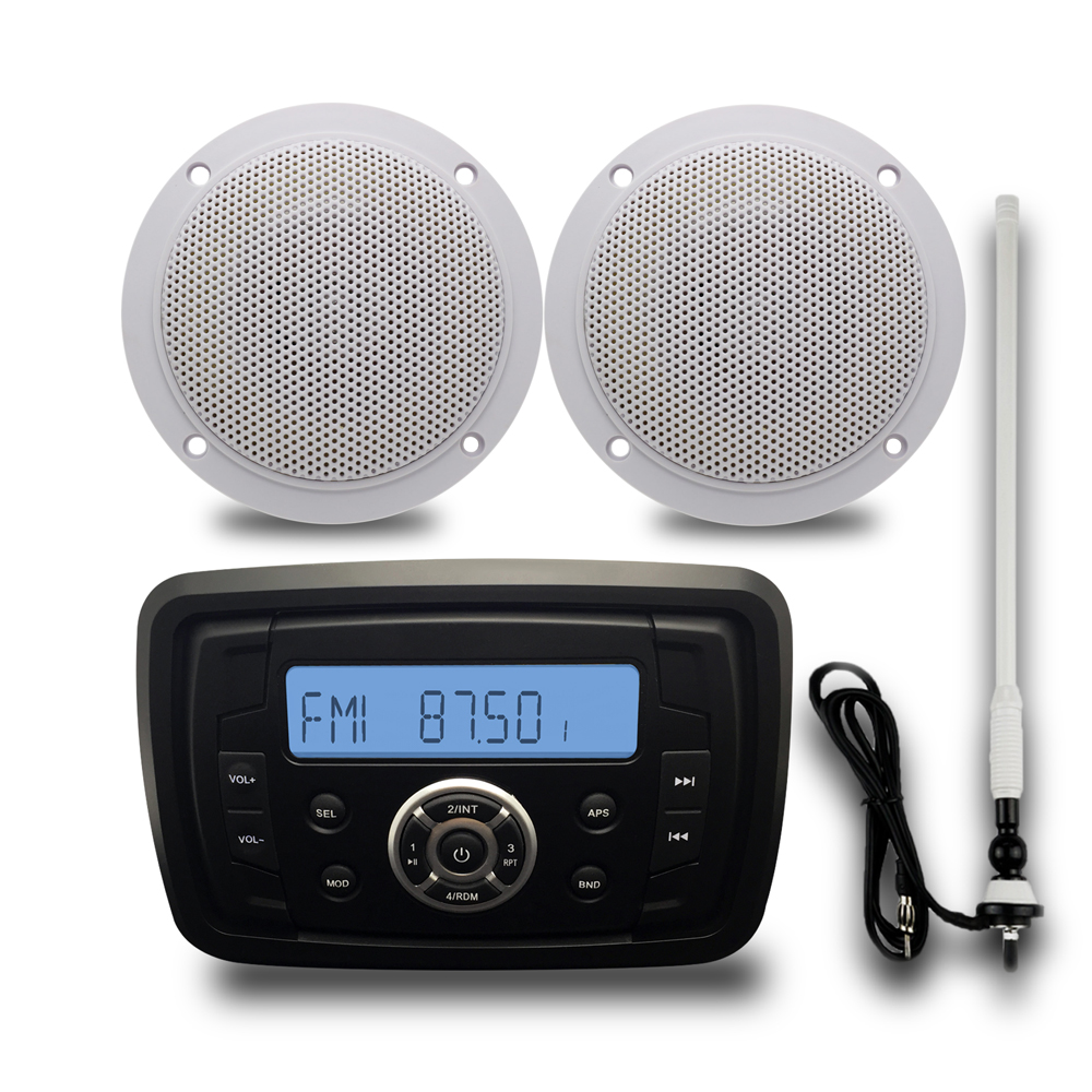 Waterproof Atv Utv Radio Bluetooth Audio Receiver Marine