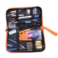 30pcs 220V Electric Welding Soldering Iron Gun Tool Kit With Rubber Handle Temperature Adjustable Electronic Maintenance