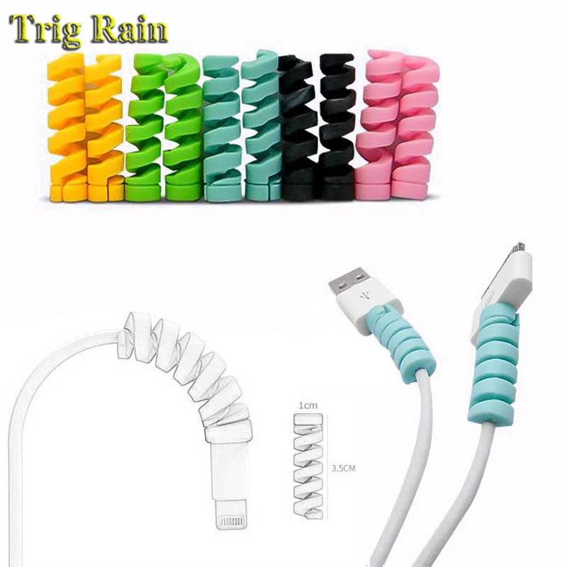 Spiral Cable protector Data Line Silicone Bobbin winder Protective For iphone Samsung Android USB Charging earphone Spiral Cable protector Data Line Silicone Bobbin winder Protective For iphone Samsung Android USB Charging earphone Case Cover