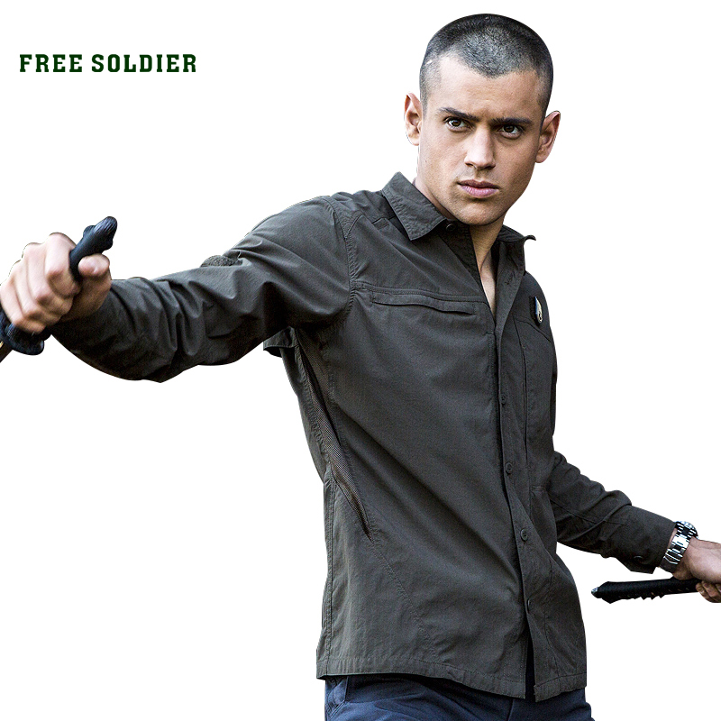 FREE SOLDIER Outdoor Sport Tactical Shirt With Long Sleeve Men's Brand Clothing Quick Drying