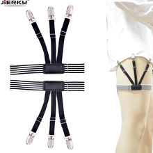 Fashion Shirt Garters Man's Stays Holder Leg Suspenders Braces Elastic Uniform Business strap 1pair