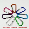 20 PC/Lot 6# D Shape Outdoor Carabiner Hook Buckle Survial Kit Mosqueton For Camping Equipment EDC Tool AA04-20P