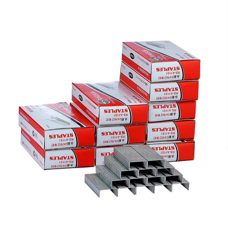 500 PCS Silver Staples Office Stationery Staple 26/6 Binding Supplies Normal Staples Metal Tapetool