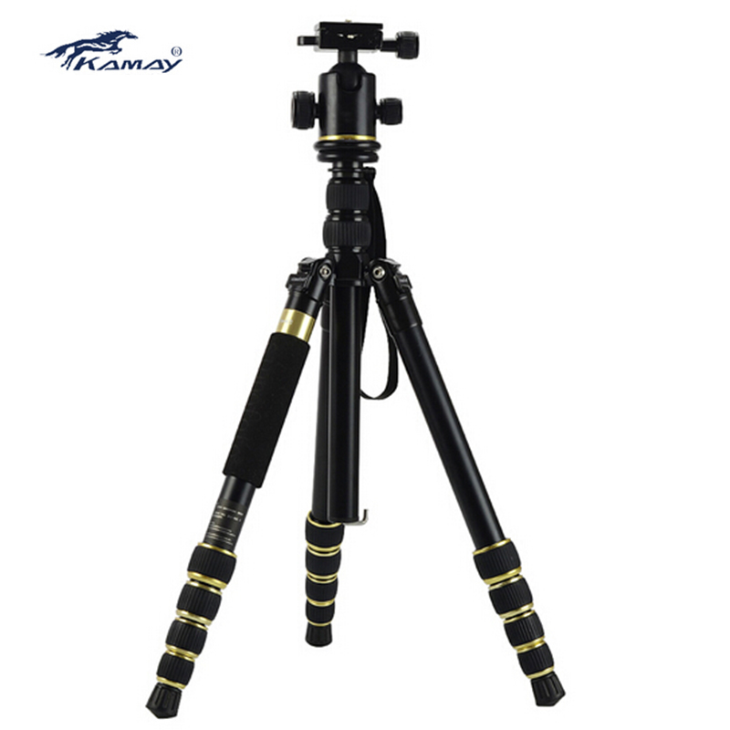 DHL KAMAY K-888 Professional portable flexible Tripod Tripods With Panoramic  ball Head K888 Changed To Monopod  Wholesale manbily cz 305 professional carbon fiber tripod for camera can changed monopod ball head 3 colors are optional free ship by dhl