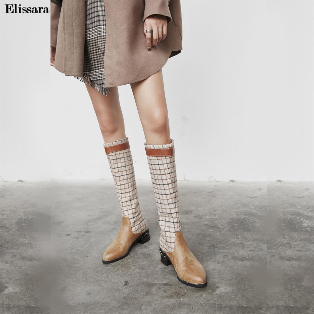 47 Talones Rodilla Botas marrón Med 32 Ladies Mujeres De Ronda Altas Nuevas Elissara Toe Casual Las La Tamaño Zip Manera Zapatos Negro n0U8Cwqz