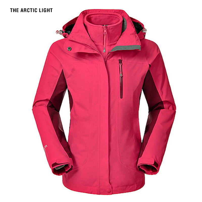 THE ARCTIC LIGHT Snow Jacket Waterproof Windproof Thermal Thicken Coat 2018 Hiking Camping Climbing Winter Ski Jacket Men Women new winter jacket women snow ski hooded waterproof windproof breathable double layer thicken hiking fishing coat outwear