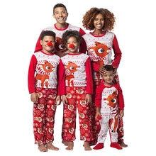cf621c2580 Mujeres Reno Tops blusa pantalones familia pijamas ropa de dormir Navidad  camiseta pantalones largos conjuntos Set regalo