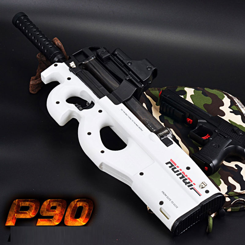 Electric Plastic White P90 Graffiti Edition Toy Gun Soft Water Bullet Toy Gun Outdoors Live CS Weapon Water Gun Toys for Kids mini wrist squirt water gun gaming toys for outdoor