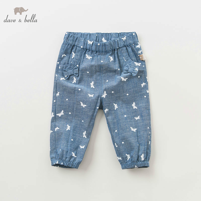 DBJ10086 dave bella spring baby girls full length butterfly pants children fashion clothes infant toddler boutique trousersDBJ10086 dave bella spring baby girls full length butterfly pants children fashion clothes infant toddler boutique trousers