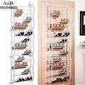 12 Слоя Fit 36 Пар Портативный Многофункциональный Обувной Стойки Висит над Дверью Обуви Организатора