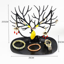Little Deer Earrings Necklace Ring Pendant Bracelet Jewelry Display Stand Tray Tree Storage Racks Organizer Holder(China)