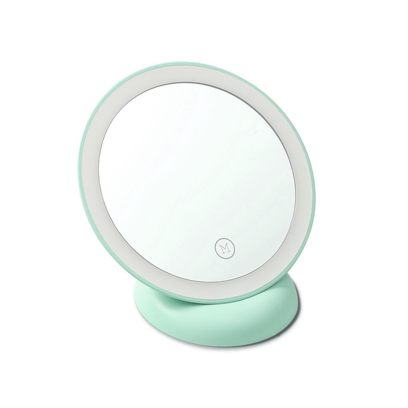 ZD Newest LED Makeup Mirror Single Side Locking Make Up Mirror With Lights Compact Suction Cup Flexible 360 Degree Rotating XN20 газовая колонка oasis glass 20 vg