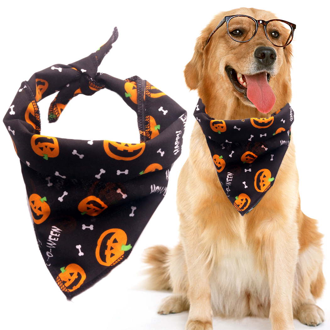 Halloween font b Pet b font Dog Accessories Dogs Bibs Cat Bowtie Dog Bandana font b