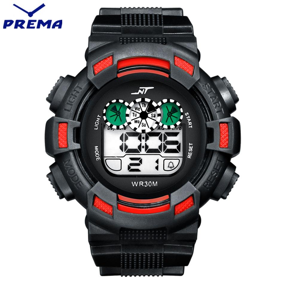 ФОТО 2016 New PREMA Brand Men LED Digital Military Watch, 50M Dive Swim Dress Sports Watches Fashion Outdoor Wristwatches relogio