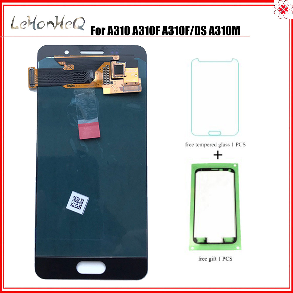 For <font><b>Samsung</b></font> Galaxy A3 2016 <font><b>A310</b></font> A310F A310M A310Y <font><b>LCD</b></font> Display Touch Screen Digitizer Assembly For <font><b>samsung</b></font> <font><b>A310</b></font> <font><b>LCD</b></font> image