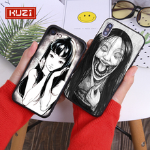 KUZI terror Phone Bag Case For iphone 7 XS MAX Soft Back Cover 6 6S 8 Plus X XR Half Wrapped