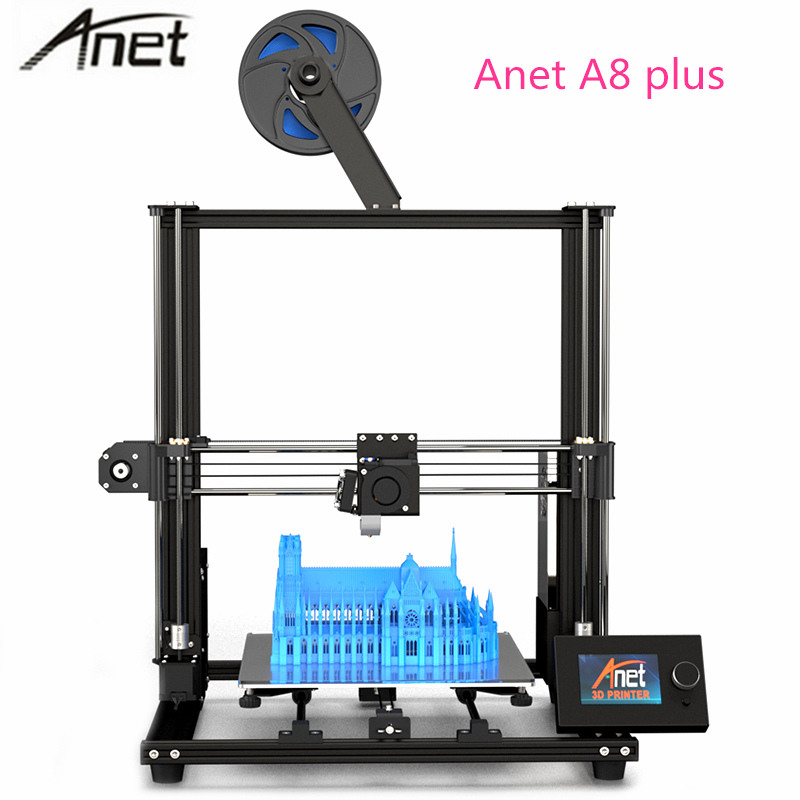 2019 Anet A8 Plus version Améliorée bricolage 3D kit imprimante Haute Précision bureau en métal Impresora Imprimante 300x300x350mm PK Anet A8