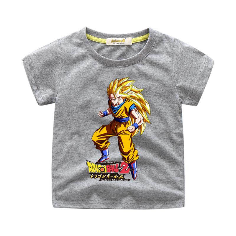 Toddler Boy Girls Summer T-shirts Short Sleeve Dragon Ball Cartoon Print Tee Tops Kids Child Clothes White Casual Tshirt WJ218(China)