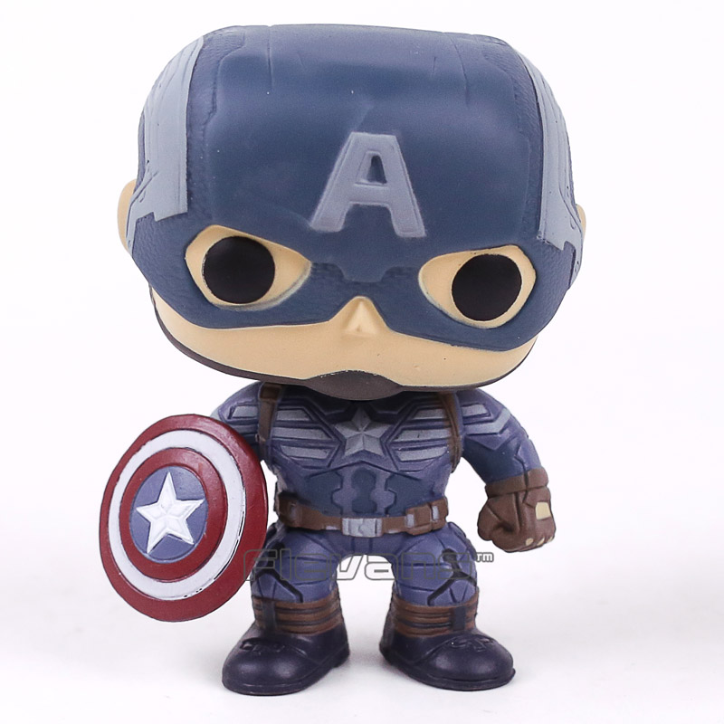 Captain America The Winter Soldier Captain America 41 Vinyl Bobble Head Figure Toy Car Home Decoration Doll фигурка planet of the apes action figure classic gorilla soldier 2 pack 18 см