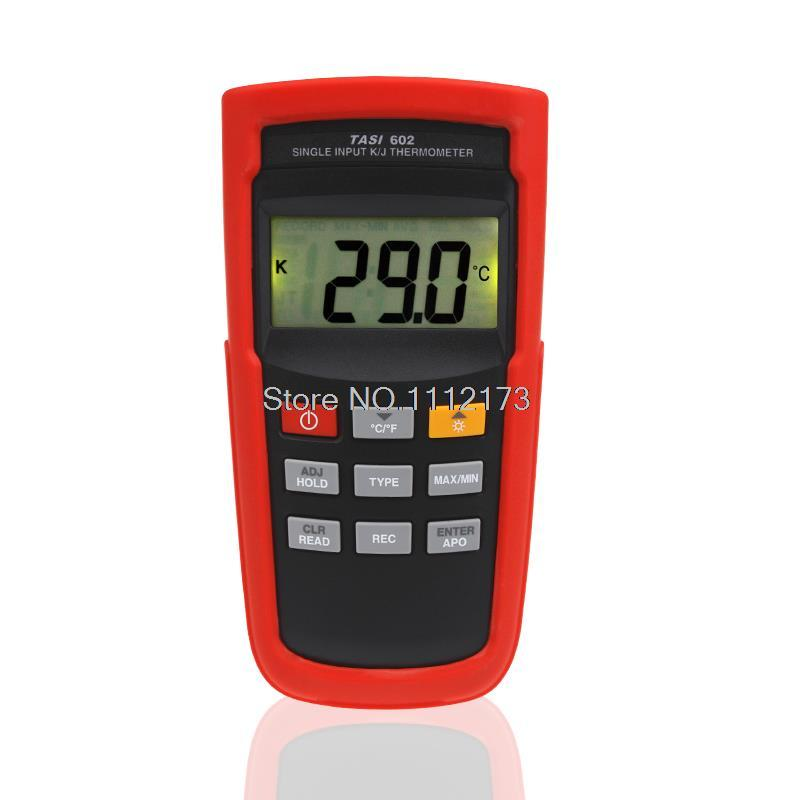 high precision K/J type Probe Thermocouple -100~1372C TASI-603 Dual channel Thermocouple Thermometer with Pouch bag mastech ms6514 dual channel digital thermometer temperature logger tester usb interface 1000 set data k j t e r s n thermocouple