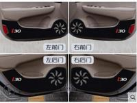 New Car Door Inner Side Anti kick Anti Kick Protective Carbon Fiber Plate Flim Decal Sticker For Hyundai i30 ix 35 4Pcs