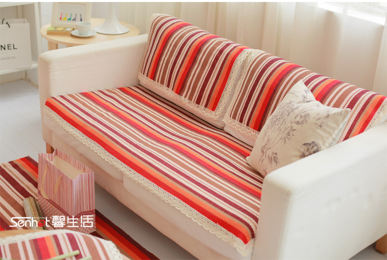 sectional sofa pet covers. HBZ41 Fabric Couch Sofa Loveseat Pet Strip Furniture Slip Cover Protector Cloth Towel Red Tablecloth Napkin Lace Home Furniture-in From Sectional Covers C