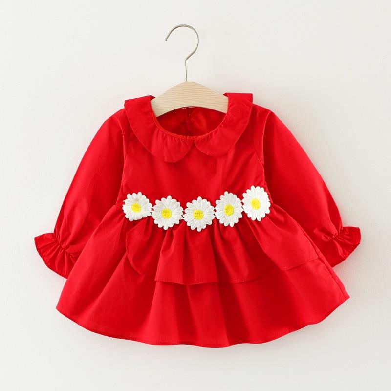 Baby Girls Summer Dress Unicorn Doll collar shirt Princess Dress Children Costume for Kids Clothes Little Daisy Baby Dress