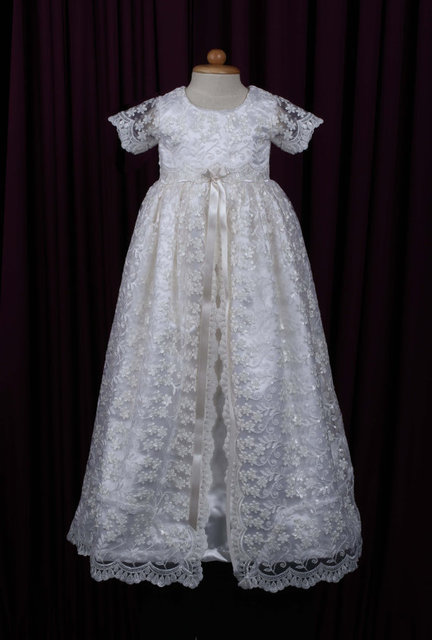 Baby Girls Boys Christening Gown Dresses Vestidos Infantis Princess Wedding Party Lace Dress for Newborn Baptism 0-24Month