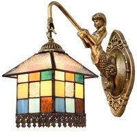 אור מנורה שליד המיטה בחדר שינה מנורת קיר מנורות קיר תאורת רטרו בית קטן מנורה אירופאית ים תיכוני DF79-במנורות קיר מתוך פנסים ותאורה באתר