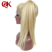 QueenKing hair European Human Hair Front Lace Wigs 150% Density Blonde 613 Straight Wigs for black Women Remy Hair