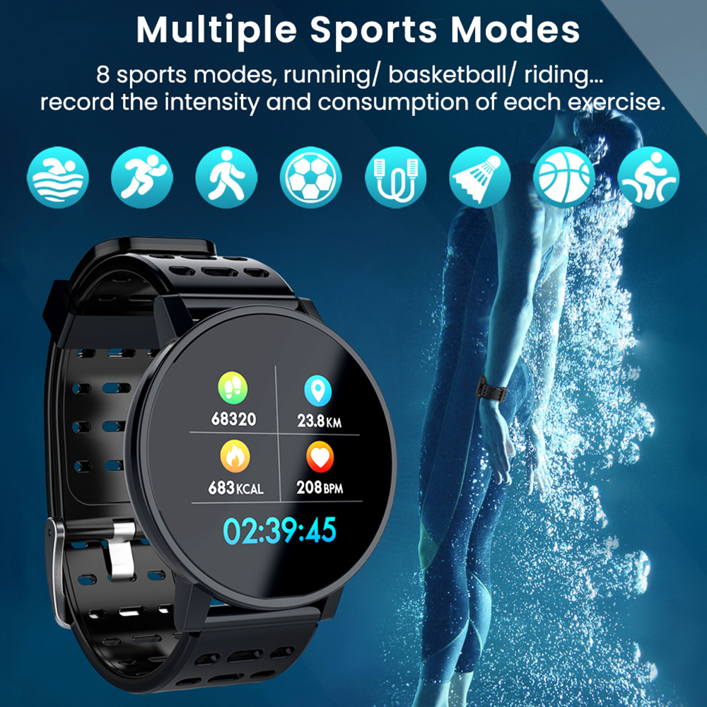Image 3 - Makibes T3 IOS Android Smart Watches Men Women HR Blood Oxygen Blood Pressure IP67 Waterproof Activity Fitness Tracker PKV11-in Smart Watches from Consumer Electronics