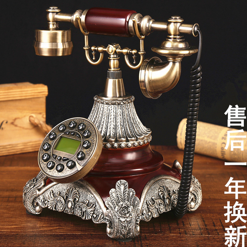 Ye are the top antique telephone European Garden retro home phone office phone caller ID household Decoration home