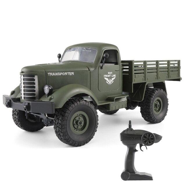Jjr/C Q61 1/16 2.4G RC Mobil 4WD RC Off-Road Mobil Remote Control Militaire Truk Pengangkut rtr RC Mainan untuk Anak-anak Hadiah