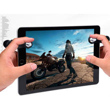 For iPad Android Tablet Mobile Gaming Trigger Shooter Bullet for Knives out/ Rules of Survival/ PUBG Mobile Game Fire Button(China)