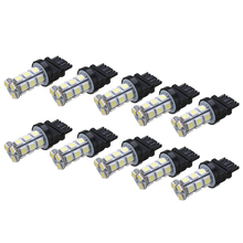 New Arrival 10Pcs/set 3157 18LED Car Tail Brake Light 12V Stop Backup Reverse Turn Signal Bulb White 6000K
