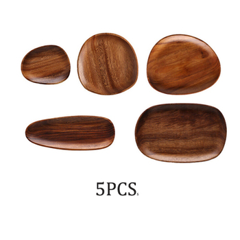 Whole Wood lovesickness Wood Irregular Oval Solid Wood Pan Plate Fruit Dishes Saucer Tea Tray Dessert Dinner Plate Tableware Set 13