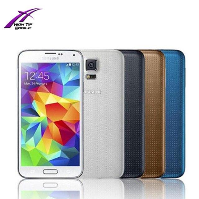 Оригинальный Разблокирована Samsung S5 i9600 G900F G900H G900A четырехъядерный процессор 3 Г и 4 Г 16MP GPS WIFI Мобильный Телефон Отремонтированы 1 год гарантии