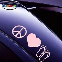 HotMeiNi 10 Color Factory Outlets Car Sticker Heart Shape Peace Sign  Flip-flops 091840df295e