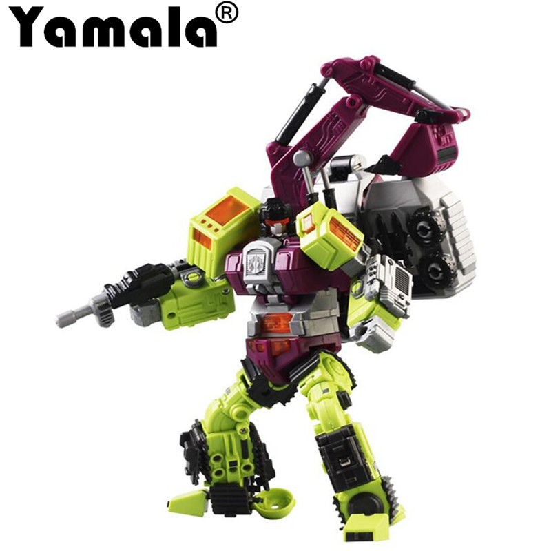 [Yamala] New Transformation Robot Toys Ko Version Gt Scraper Forklift excavator Action Figures Robot Toys For Children Gift