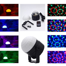 Remote control Led party light RGB led DJ stage Lighting effect 9W disco Ball Lamp For Christmas Home KTV Xmas Wedding Show(China)