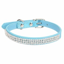 Exquisite Rhinestone Embellished Leather Collar