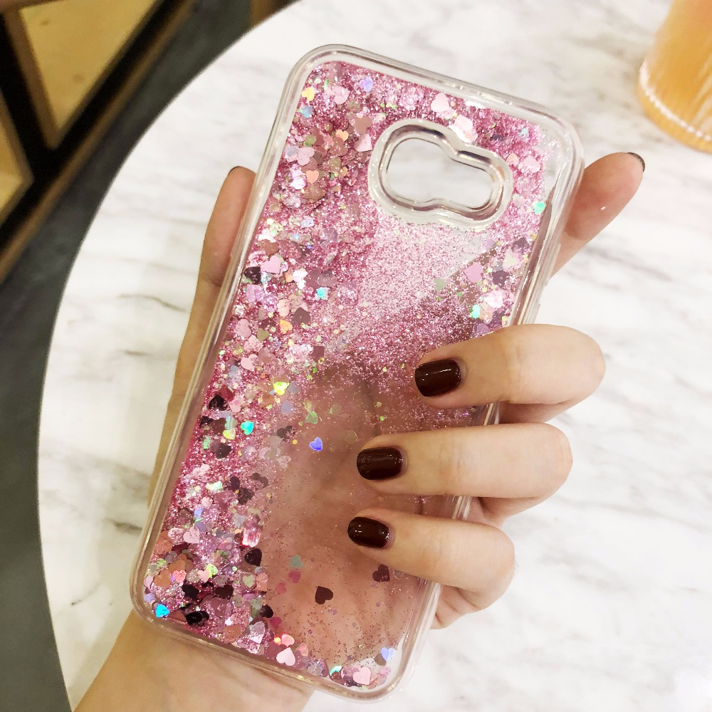 For Samsung Galaxy Note 4 5 8 case Stars Glitter Liquid Quicksand Back Cover For S6 S7 edge S8 plus TPU Cover For A3 A5 A7 2017