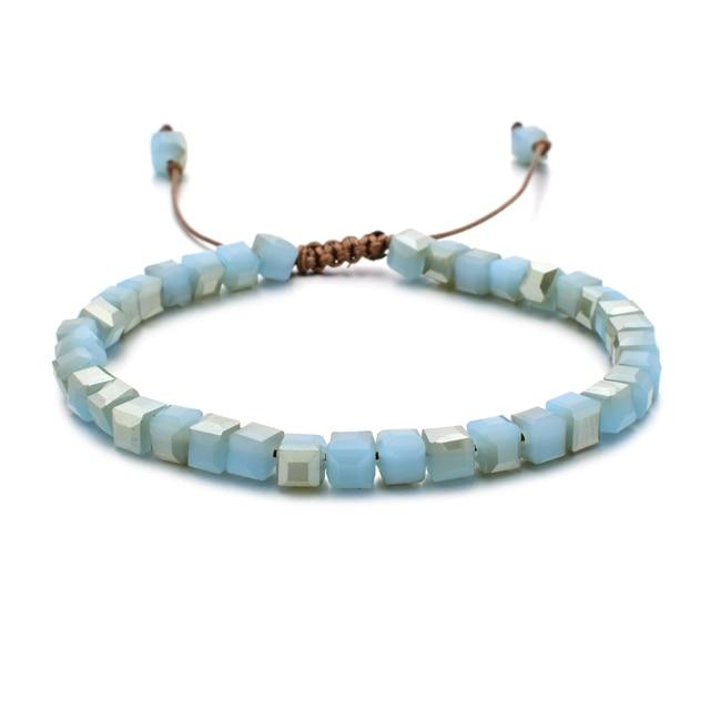 ZMZY Woman Bracelet Wristband Glass Crystal Bracelets Gifts Jewelry Accessories Handmade Wristlet Trinket 2