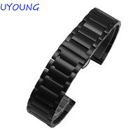 Solid Stainless Steel Watchband 20mm 22mm High Quality Precision steel watch Strap For moto 360(2nd Gen) 42mm/46mm