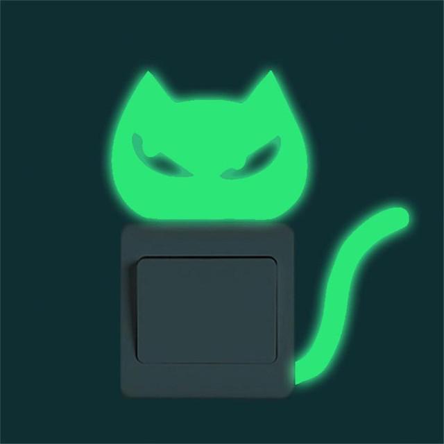 Fluorescent Cat Shaped Switch Sticker