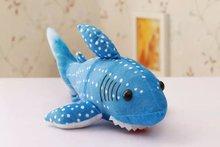 small cute creative plush shark toy stuffed blue shark doll gift about 30cm