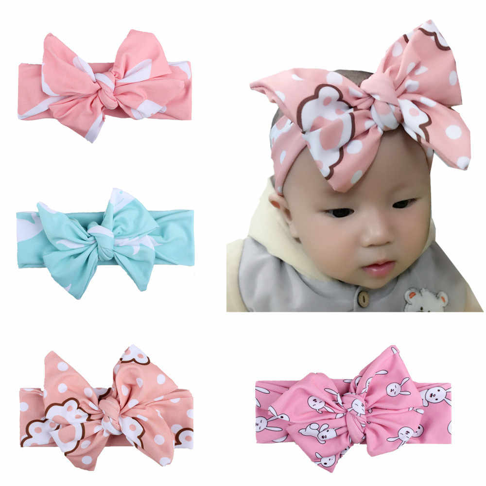 e7af2036707 ... Rabbit Bow Hat Girl. RELATED PRODUCTS. KLV 1PC Baby girl Headband Big  bowknot Kid Kids Head Accessories Hairband Baby Printed turban Head