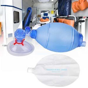 Image 3 - חמצן מסכות תיק פשוט עצמי לעזור צינור חמצן החייאה ידנית מאגר תיק PVC תיק ושקוף פנים מסכה למבוגרים