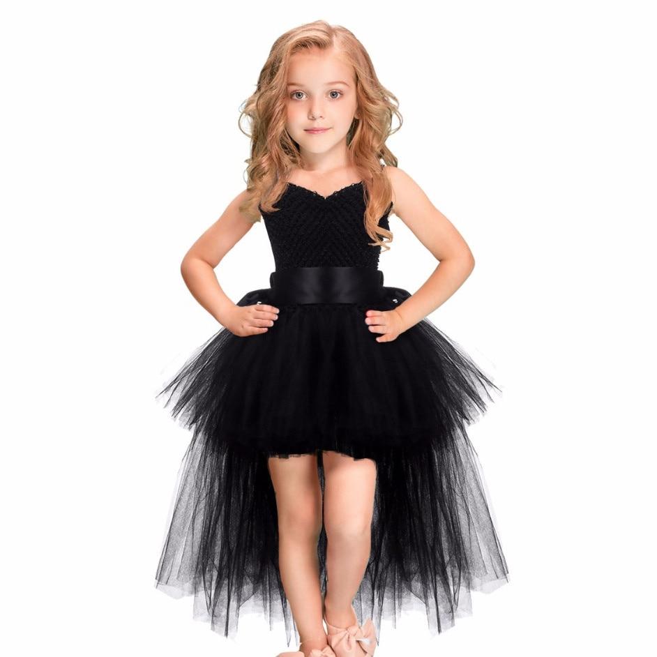 Tutu Dress Baby Girls Kids Ball Gown Strap New 2018 White Black Pink Flower Tutu Handmade Princes Fluffy Mesh Soft Tulle Gown nowodvorski ball black white iii zwis